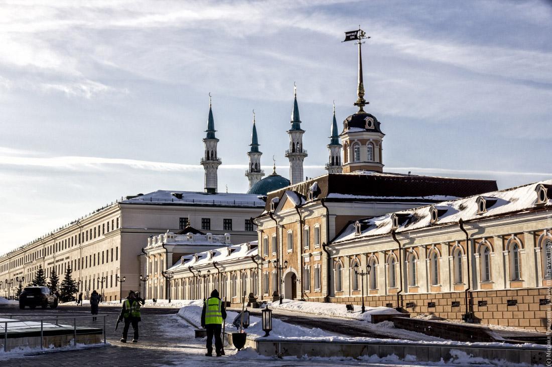 Территория Кремля Казани