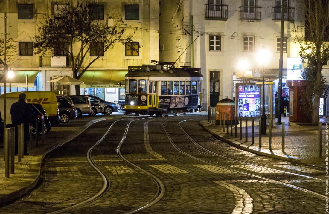 трамвай в лиссабоне