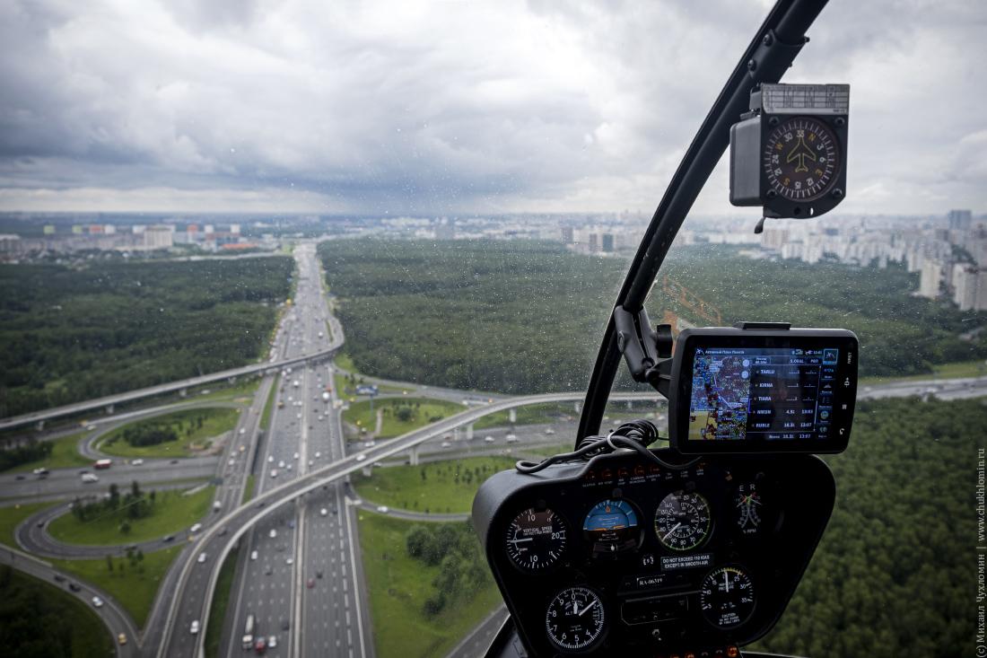 На вертолете по Москве