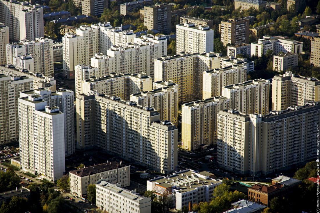 Москва с останкинской башни